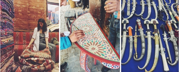 Moroccan Marketplace Collage